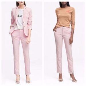 Banana Republic Ryan Light Pink Textured Pants 2